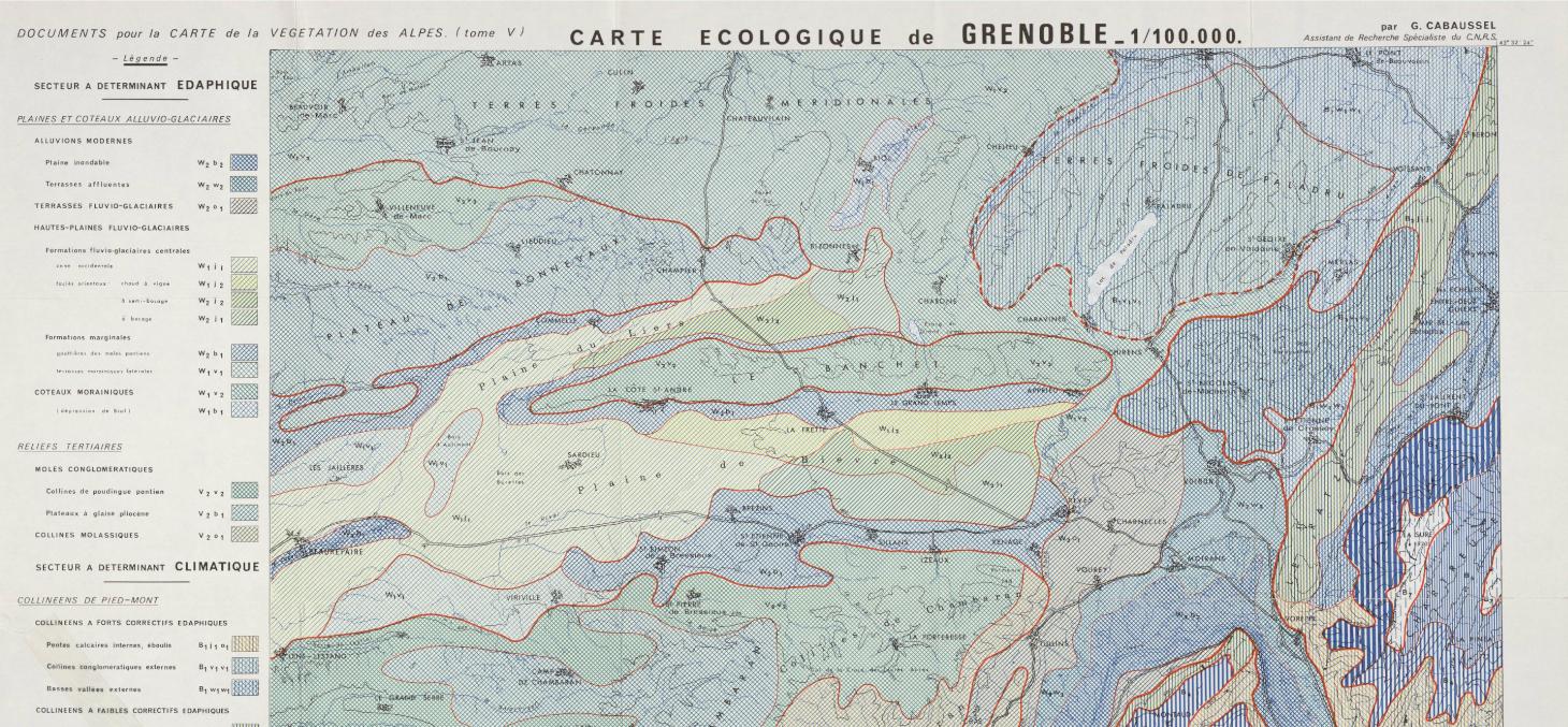 Carte écologique de Grenoble - Jardin du Lautaret
